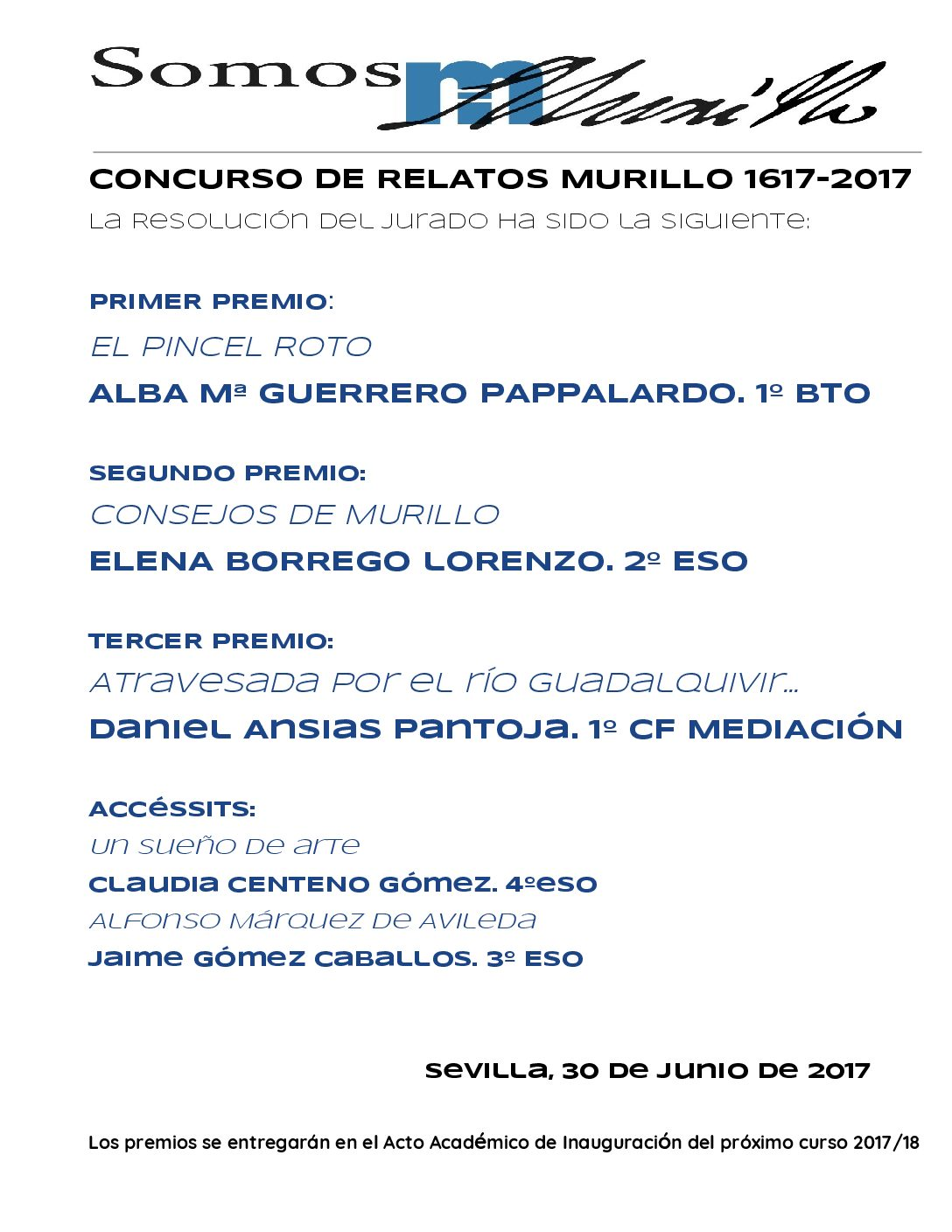 Resolución CONCURSO DE RELATOS