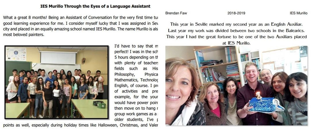 IES MURILLO THROUGH THE EYES OF A LANGUAGE ASSISTANT